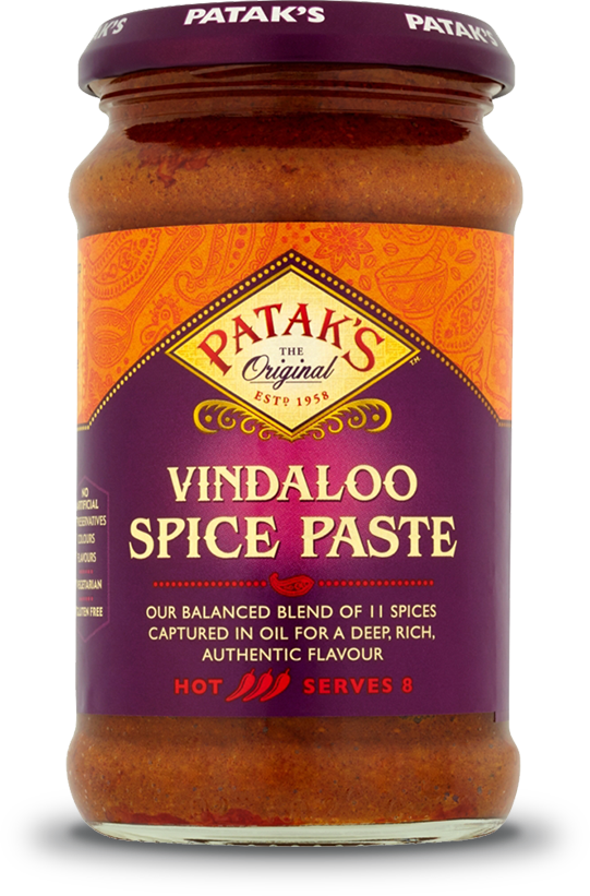 PATAK PASTE VINDALOO CURRY 283G